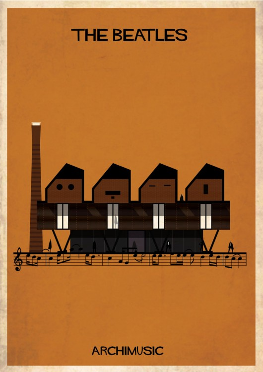 archimusic-illustrations-turn-music-into-architecture 03 the-beatles-01-530x750